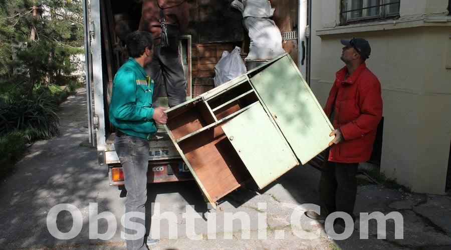 Извозване на стари мебели в Община Ботевград