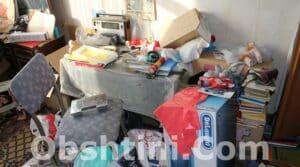 Почистване на апартамент с отпадъци в Община Пловдив