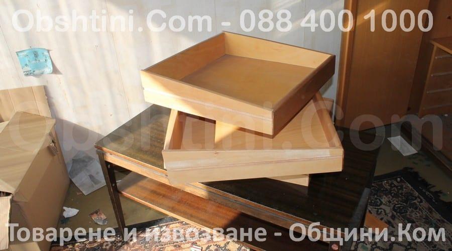 Извозване на шкафове и секции в Столична община